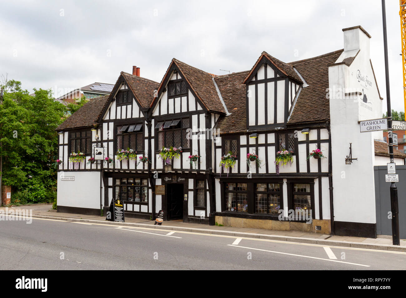 The Black Swan Inn hotel and pub in the City of York, Yorkshire, UK. - Stock Image