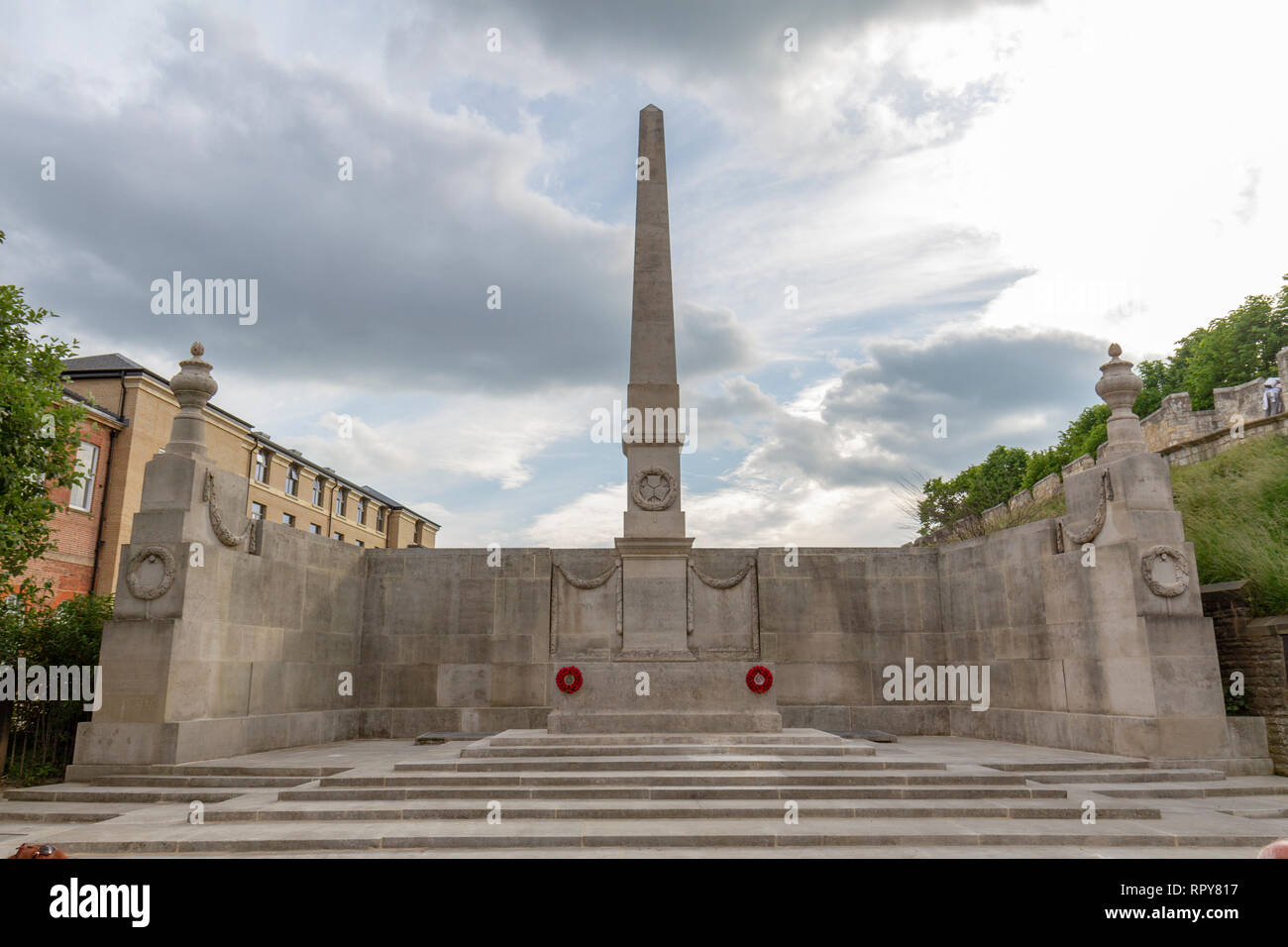 First World War Memorial to the 2236 members of the North Eastern Railway who died, City of York, Yorkshire, UK. - Stock Image
