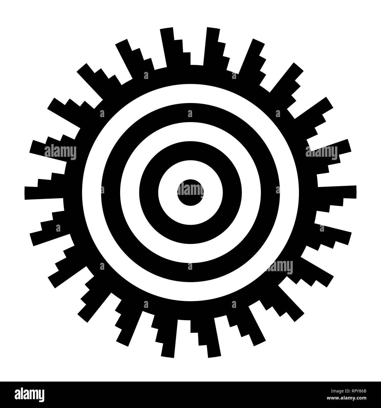 Sun icon. Sun symbol. Vector and illustration. - Stock Vector