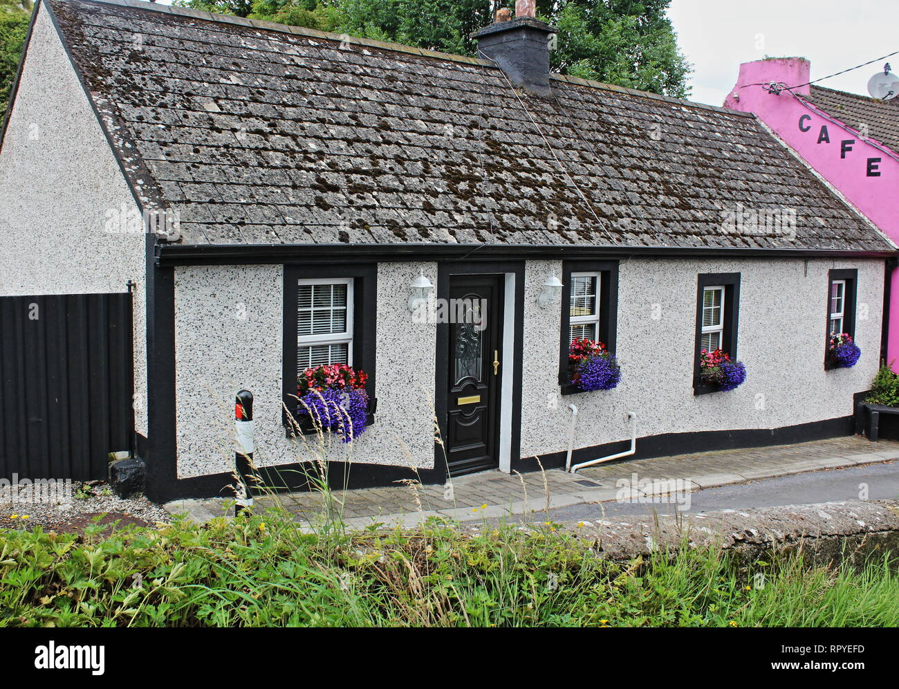 Irish Cottage - Stock Image