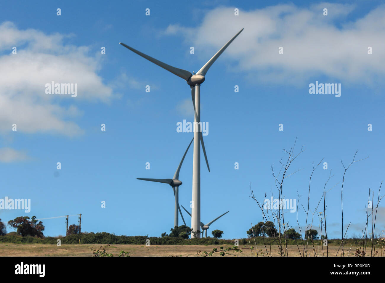 One of the many renewable energy parks that exist in Portugal - Stock Image