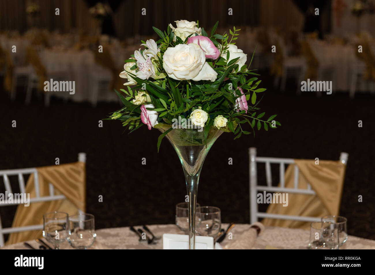 Tremendous Floral Centerpiece At Luxury Elegant Wedding Reception Best Image Libraries Weasiibadanjobscom