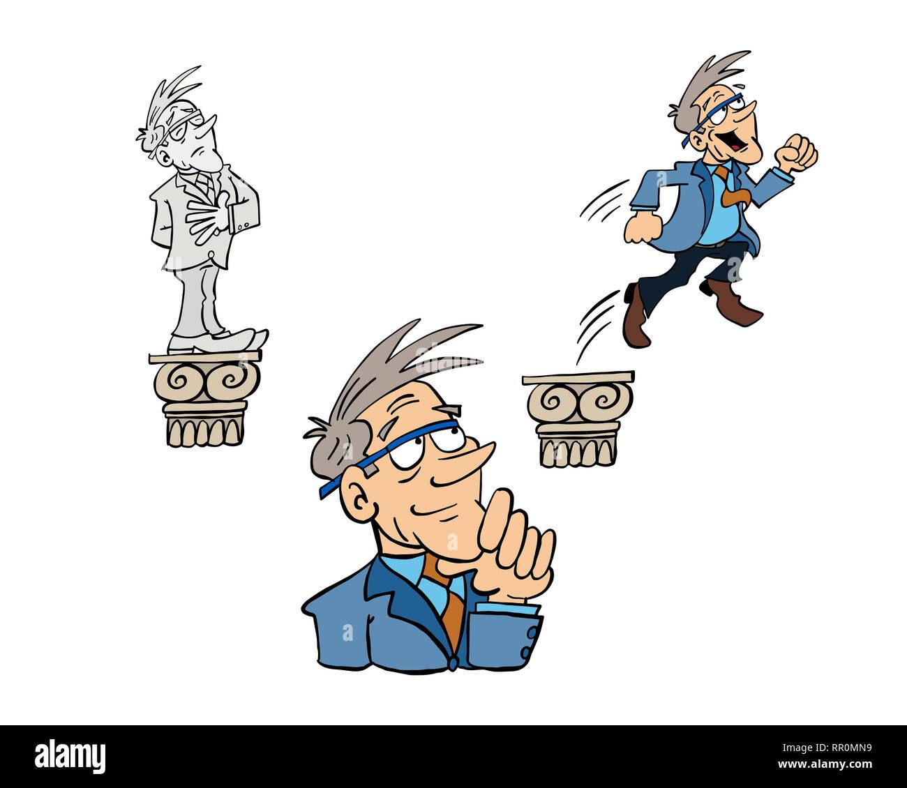 Growth mindset and fixed mindset - Bertrand - Stock Image