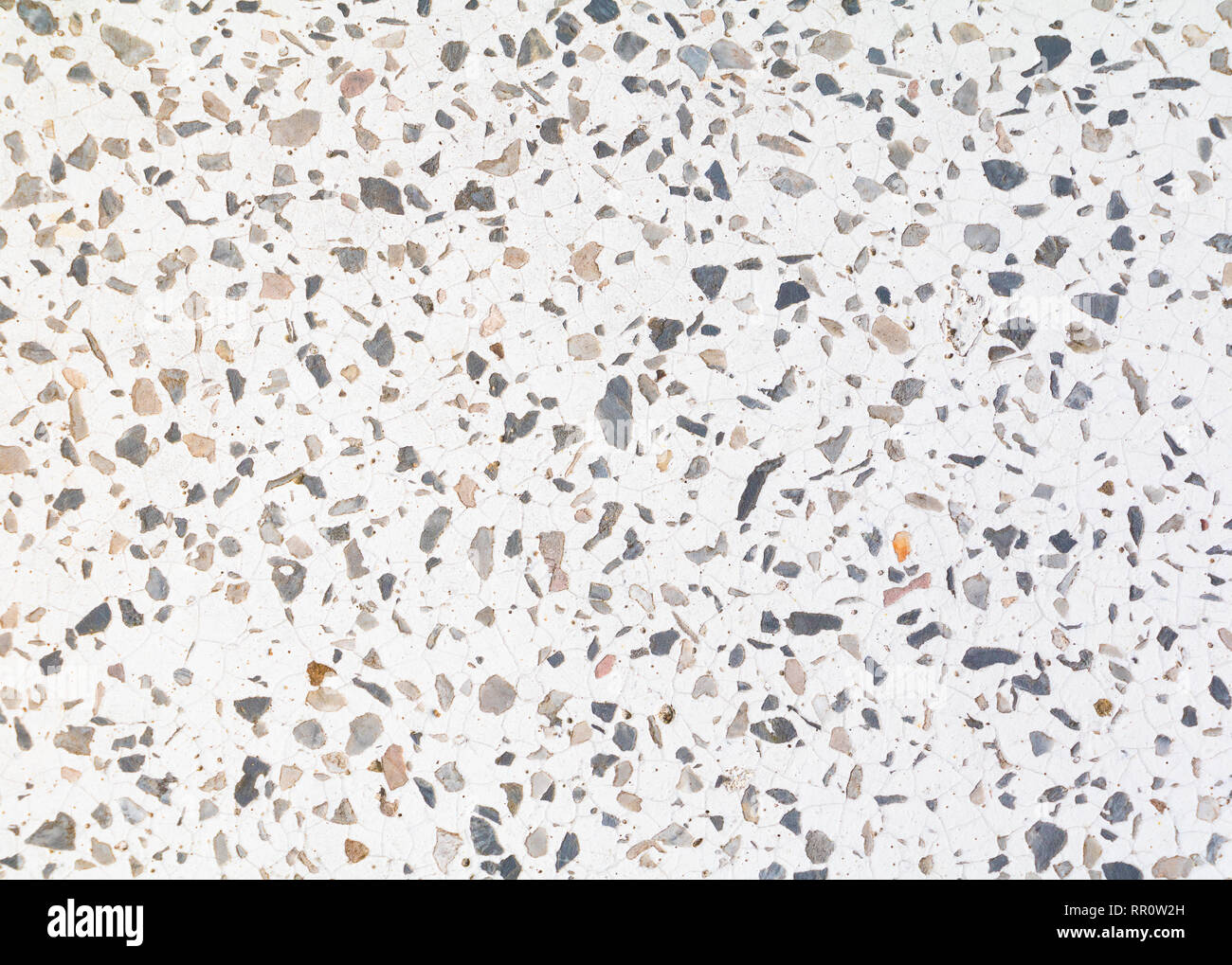 Terrazzo Flooring Pattern Old Texture Small Stone Black And