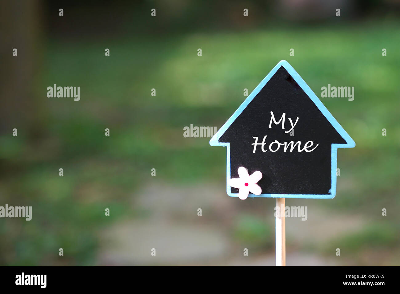 Real estate concept: finding and owning my home in a beautiful area - Stock Image