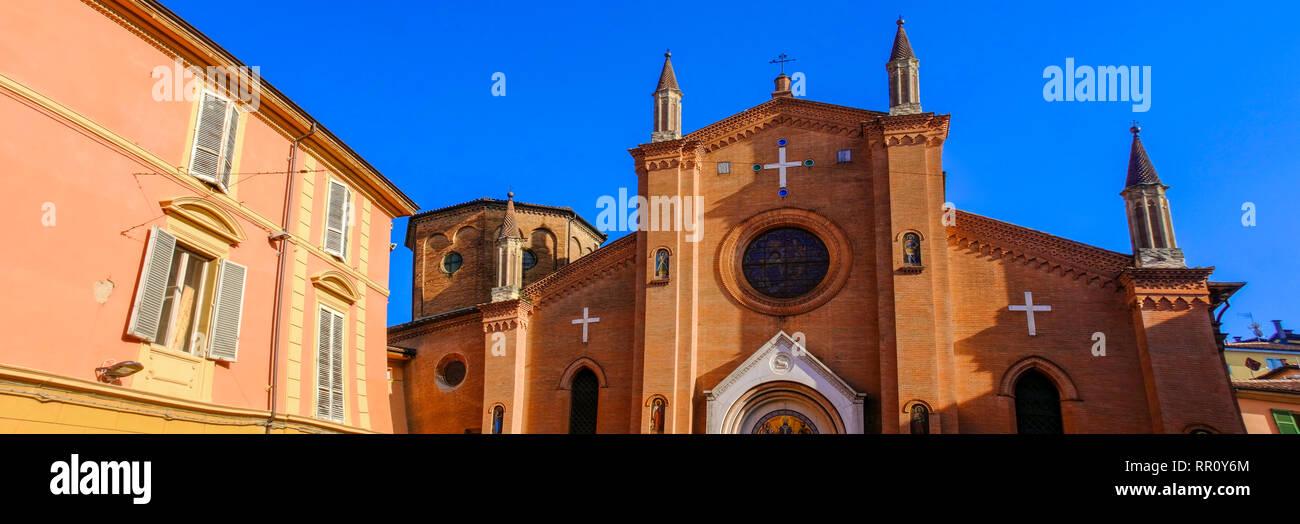 San Martino church horizontal in Bologna - Emilia Romagna - Italy - Stock Image