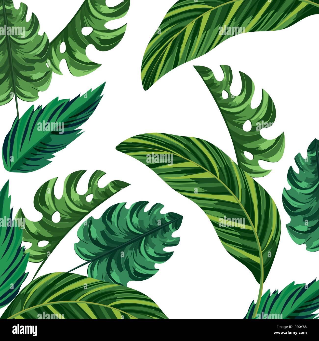 Nature Leafs Cartoon Stock Vector Image Art Alamy