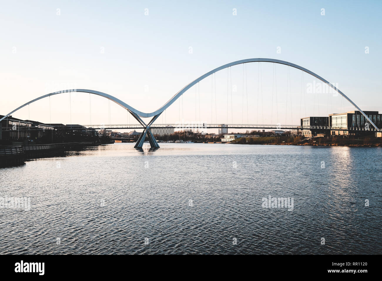 The Infinity Bridge in Stockton-on-Tees, England Stock Photo