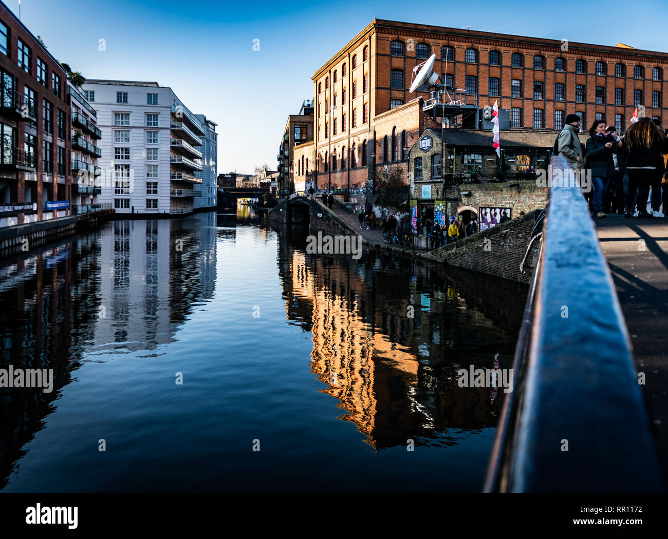 the views of Camden Market from the bridges and overpasses - Stock Image