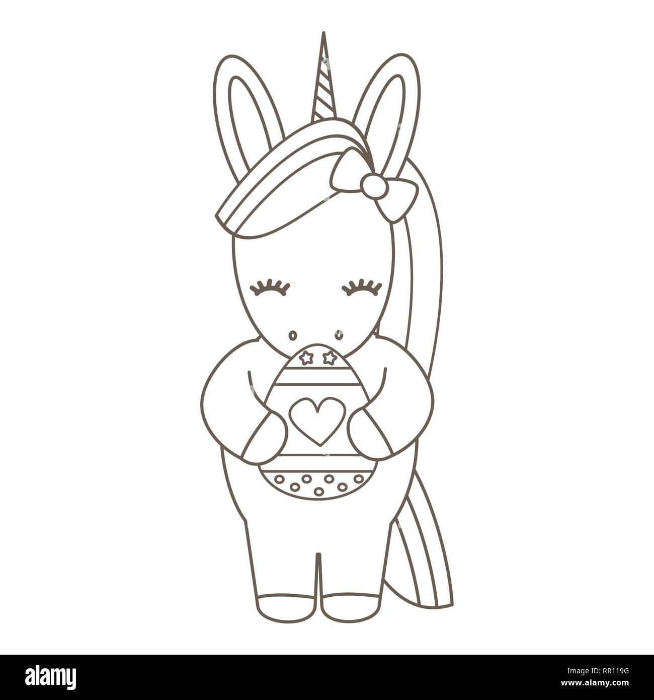 cute cartoon vector black and white