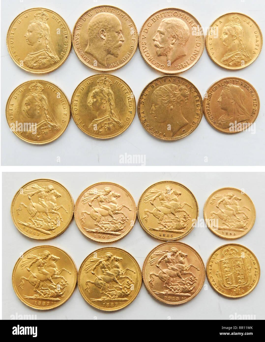 Victorian Coins Crown Stock Photos & Victorian Coins Crown Stock