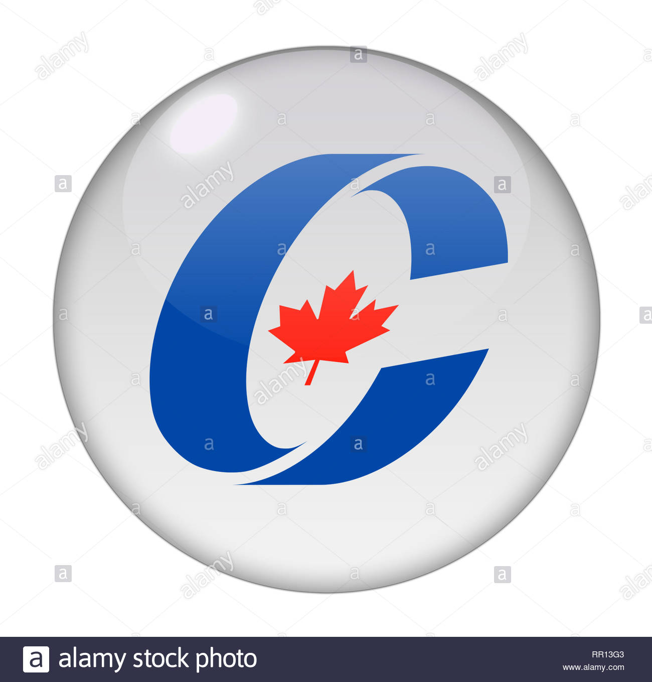 Conservative Party of Canada logo - Stock Image