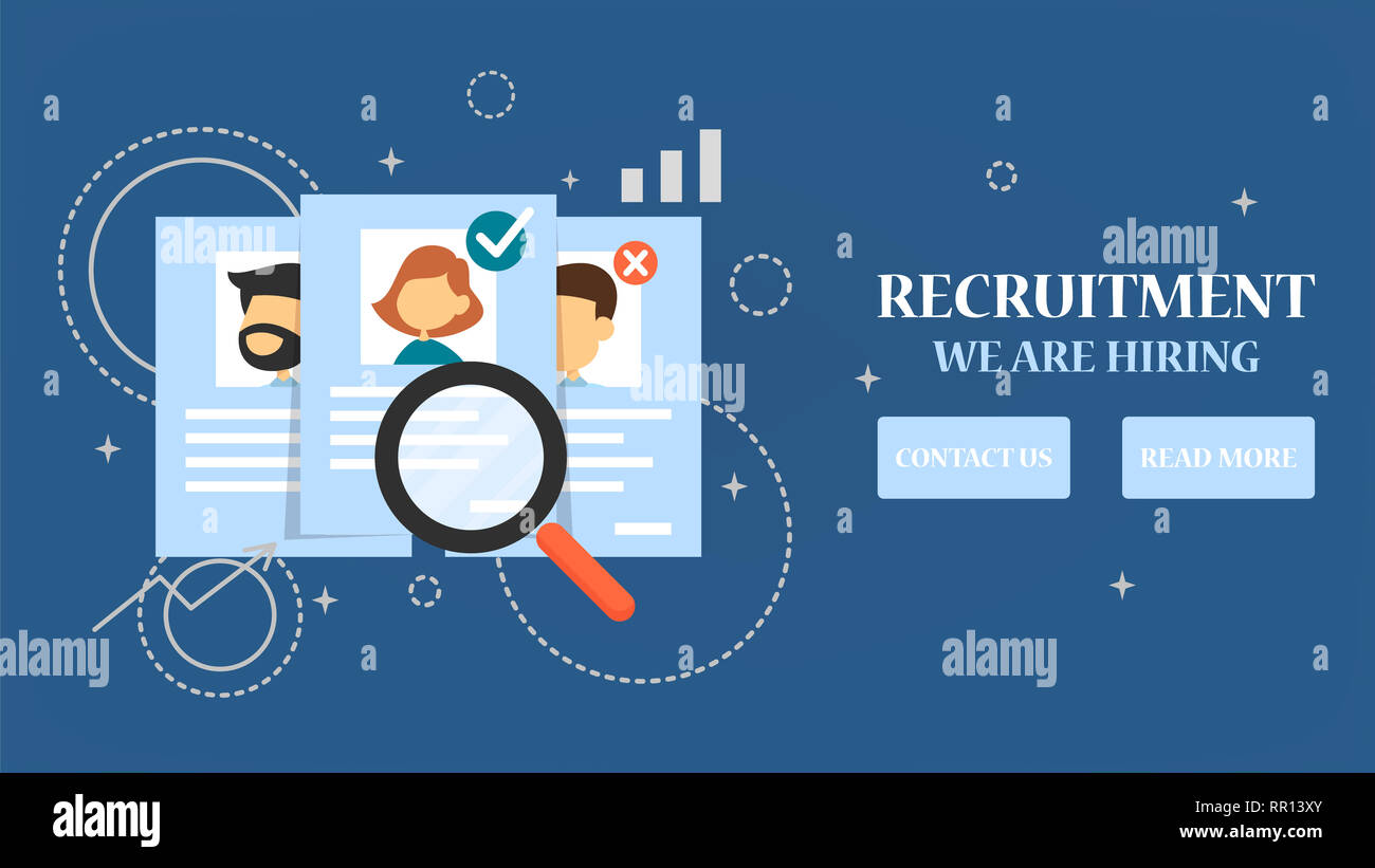 Recruitment Web Banner Search Person For A Job Interview And Hire Build Career In A Company Find Employee Stock Photo Alamy