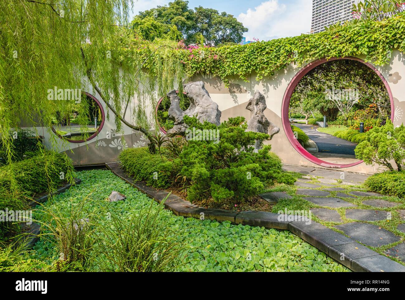 Chinese Garden At Gardens By The Bay Singapore Chinesischer