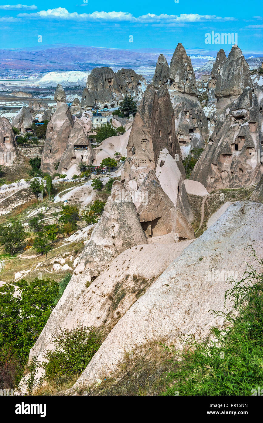 Turkey Cappadocia Fairy Chimney Landscape Stock Photo