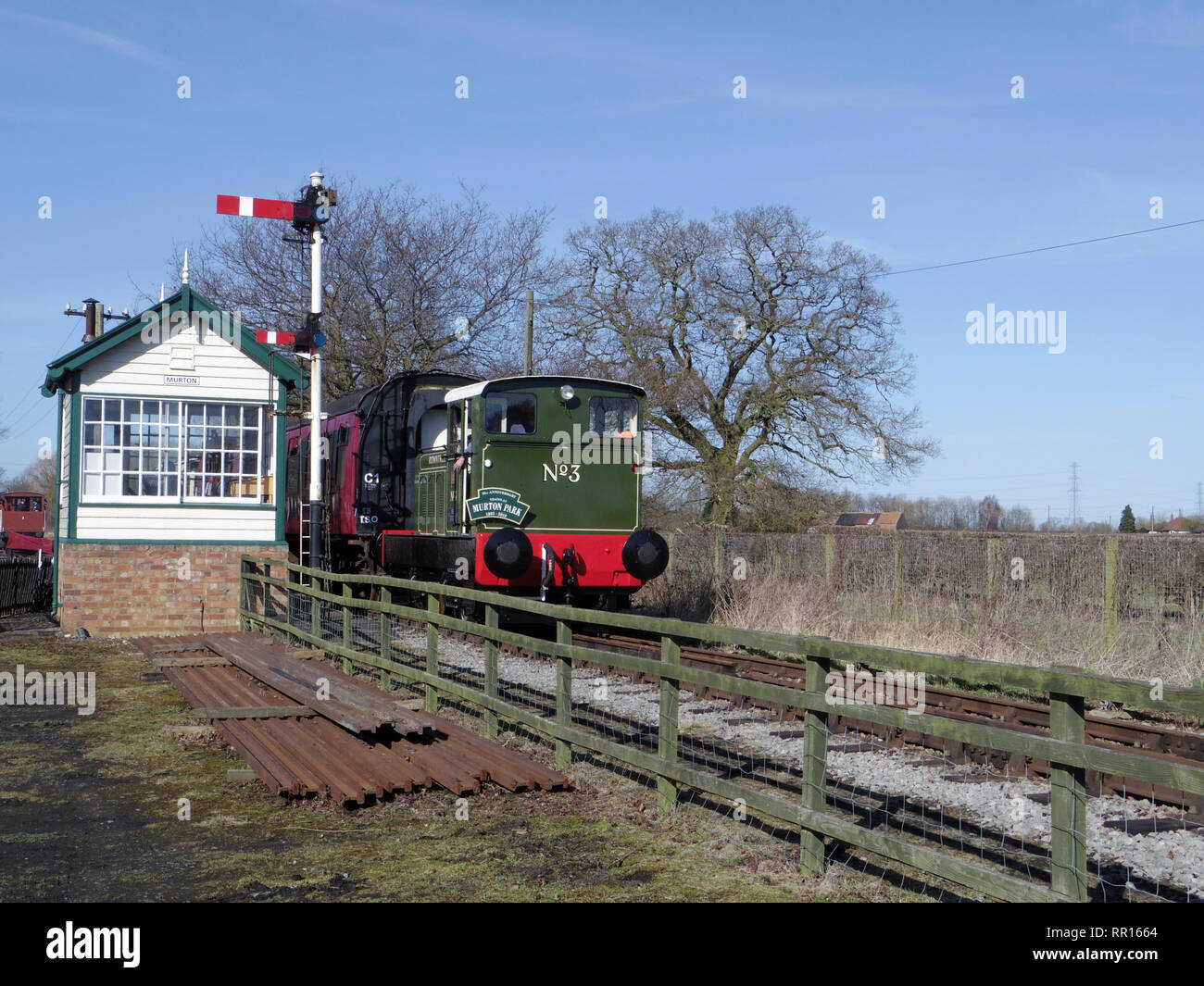 Rowntrees No3 at the Derwent Valley Light Railway - Stock Image