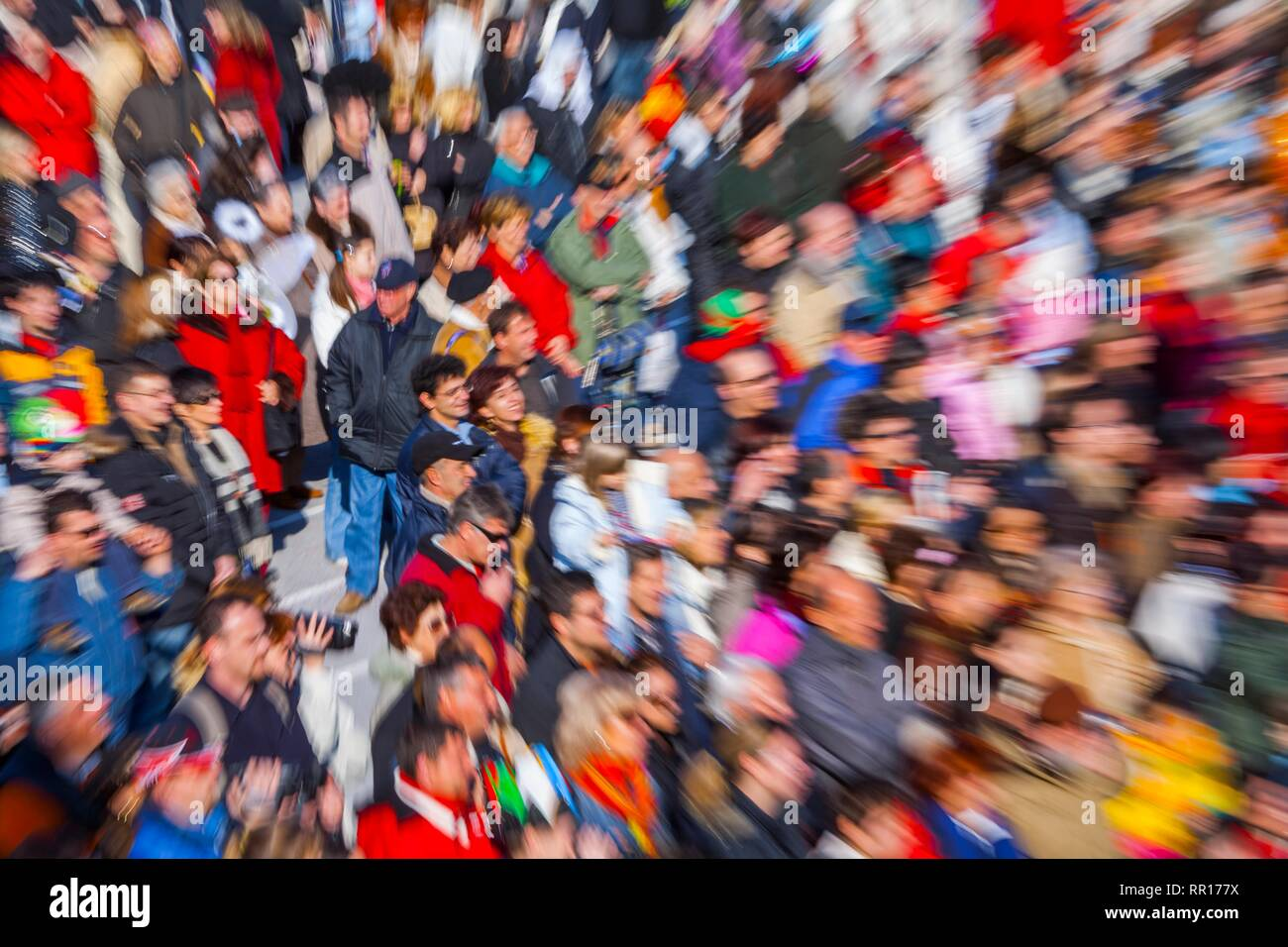 People public crowd blur isolated style - Stock Image
