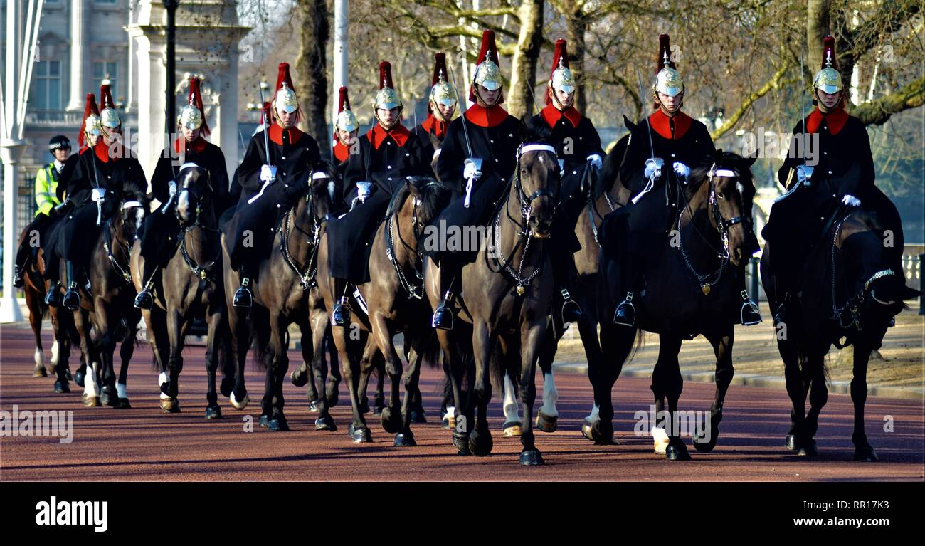 Blues and Royals Stock Photo