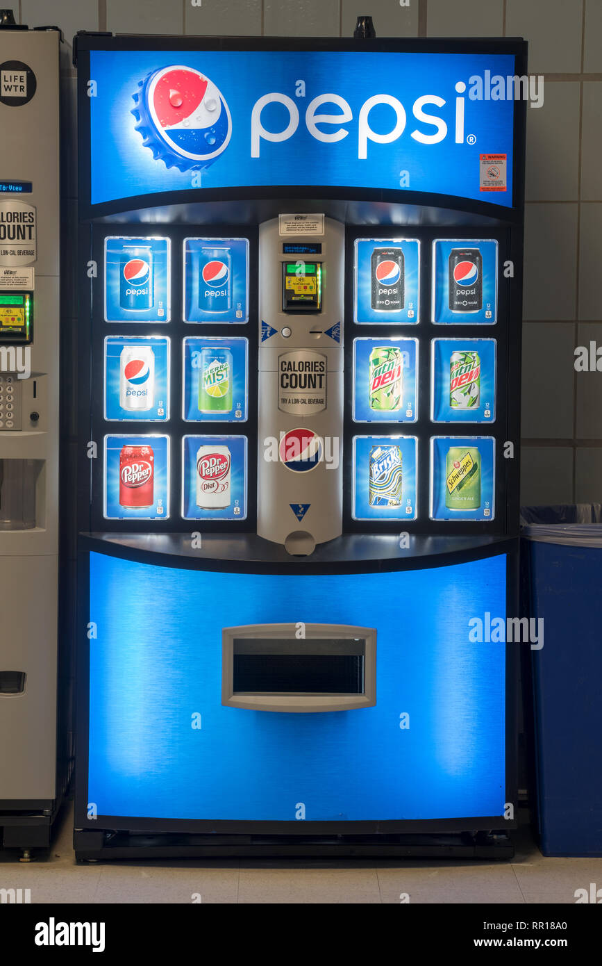 Vending machines in the Portland, Oregon V.A. hospital. - Stock Image