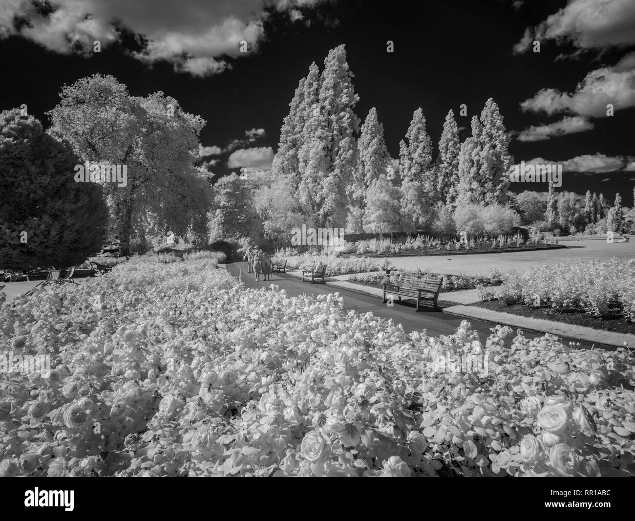 London in infra red. - Stock Image