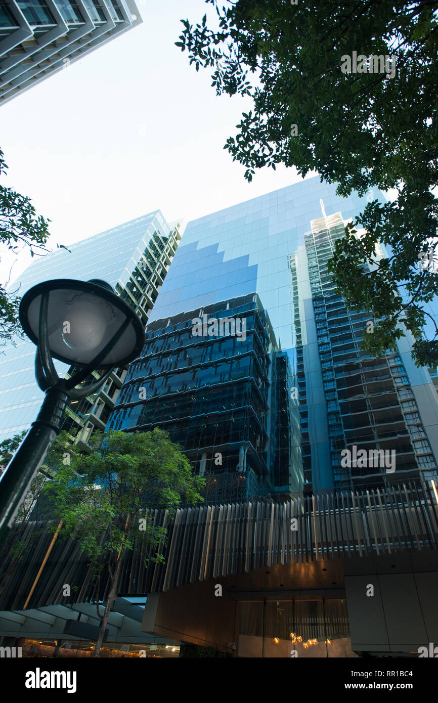 high rise in Brisbane city - Stock Image
