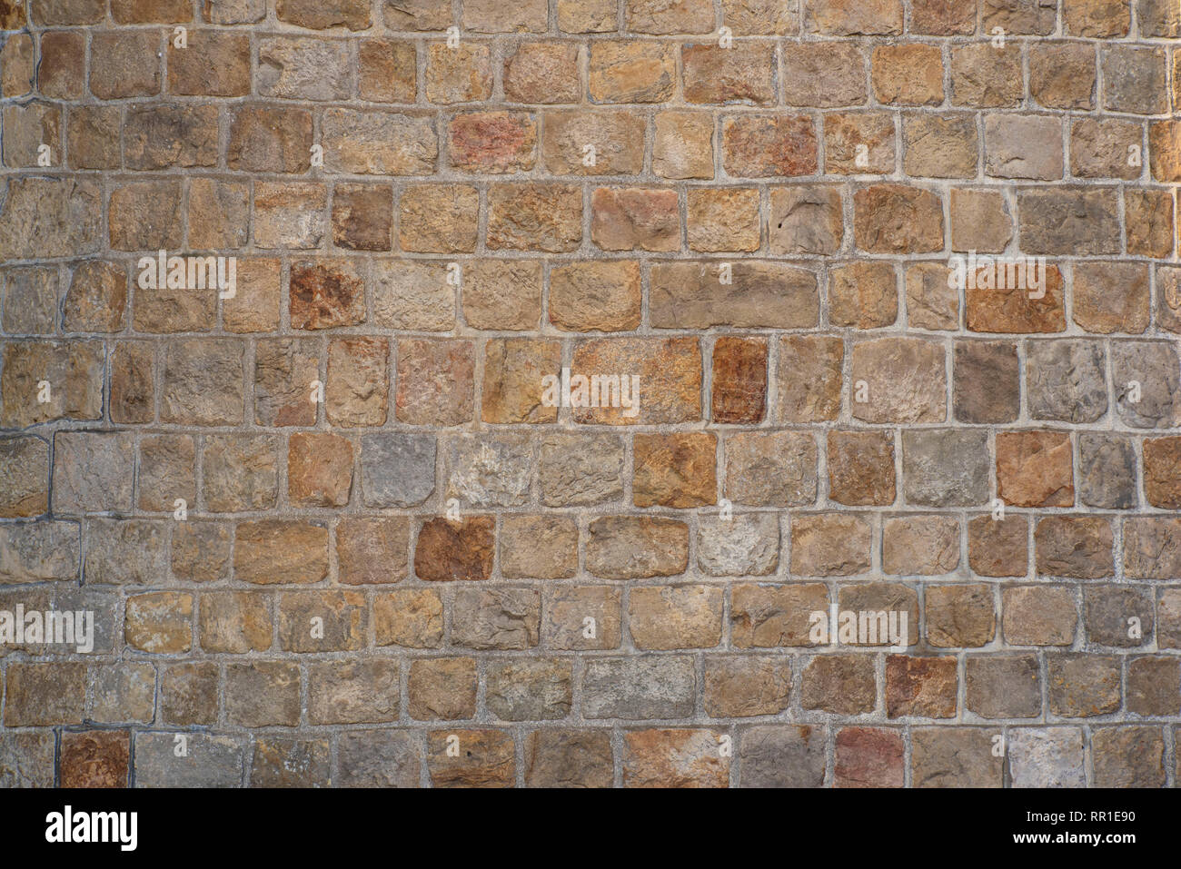 Stone wall of a medieval castle - Stock Image