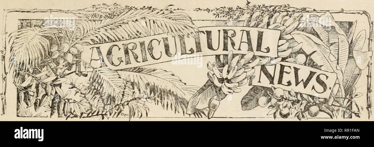 Agricultural news  Agriculture -- West Indies