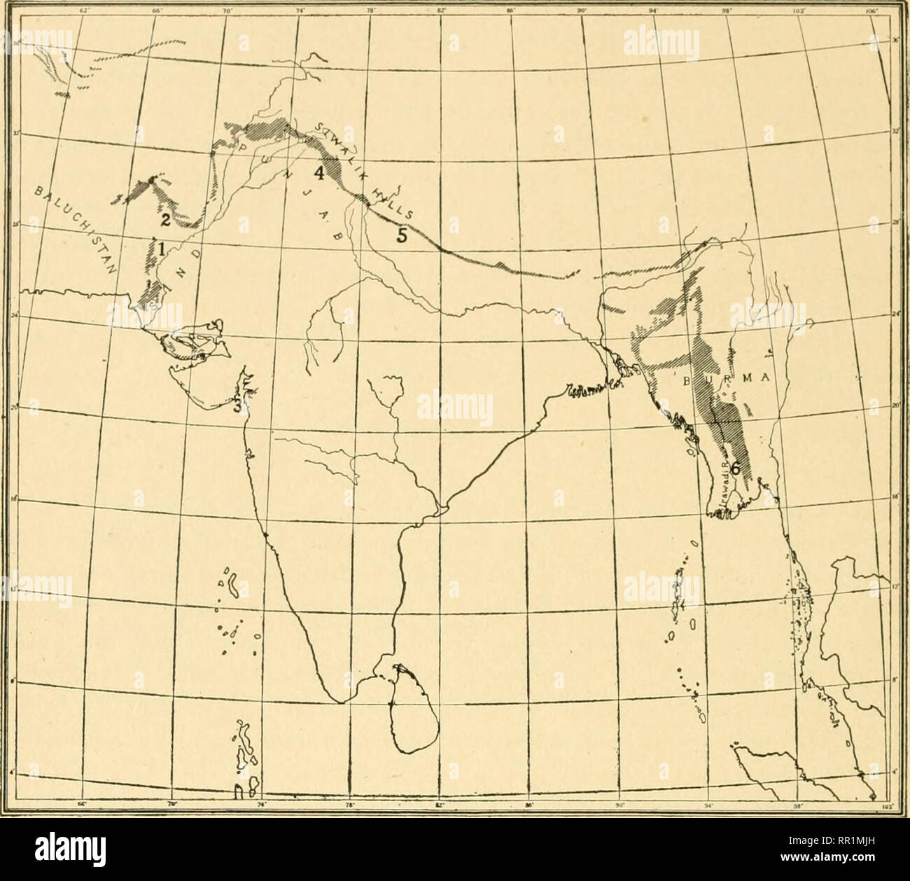 River Map India Stock Photos & River Map India Stock Images ...