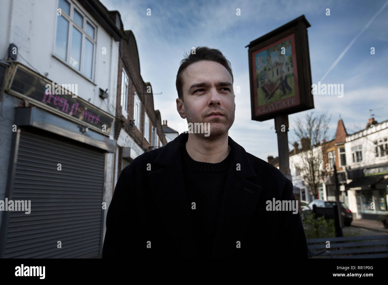 David Challen son of Sally Challen, campaigning for her release following the successful appeal for the murder in 2011 of her husband Richard. - Stock Image