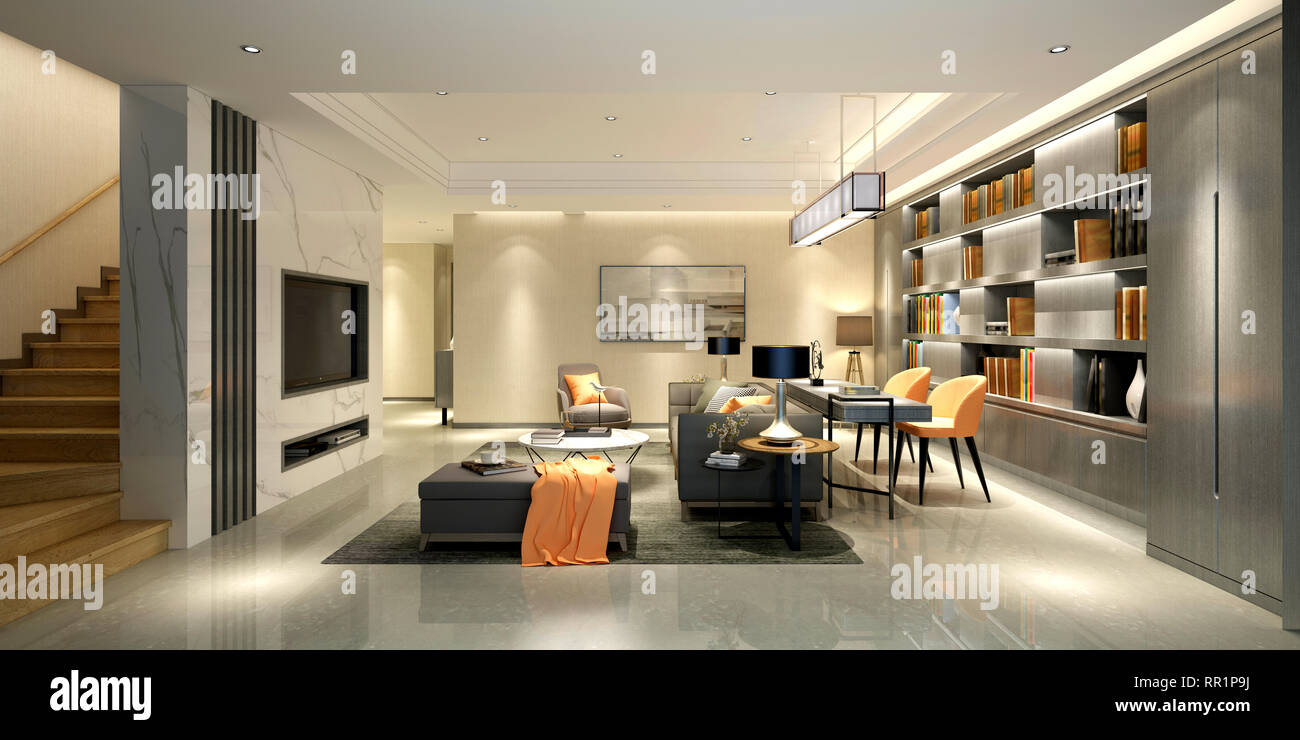 3d Render Of Home Interior Stock Photo 237911342 Alamy