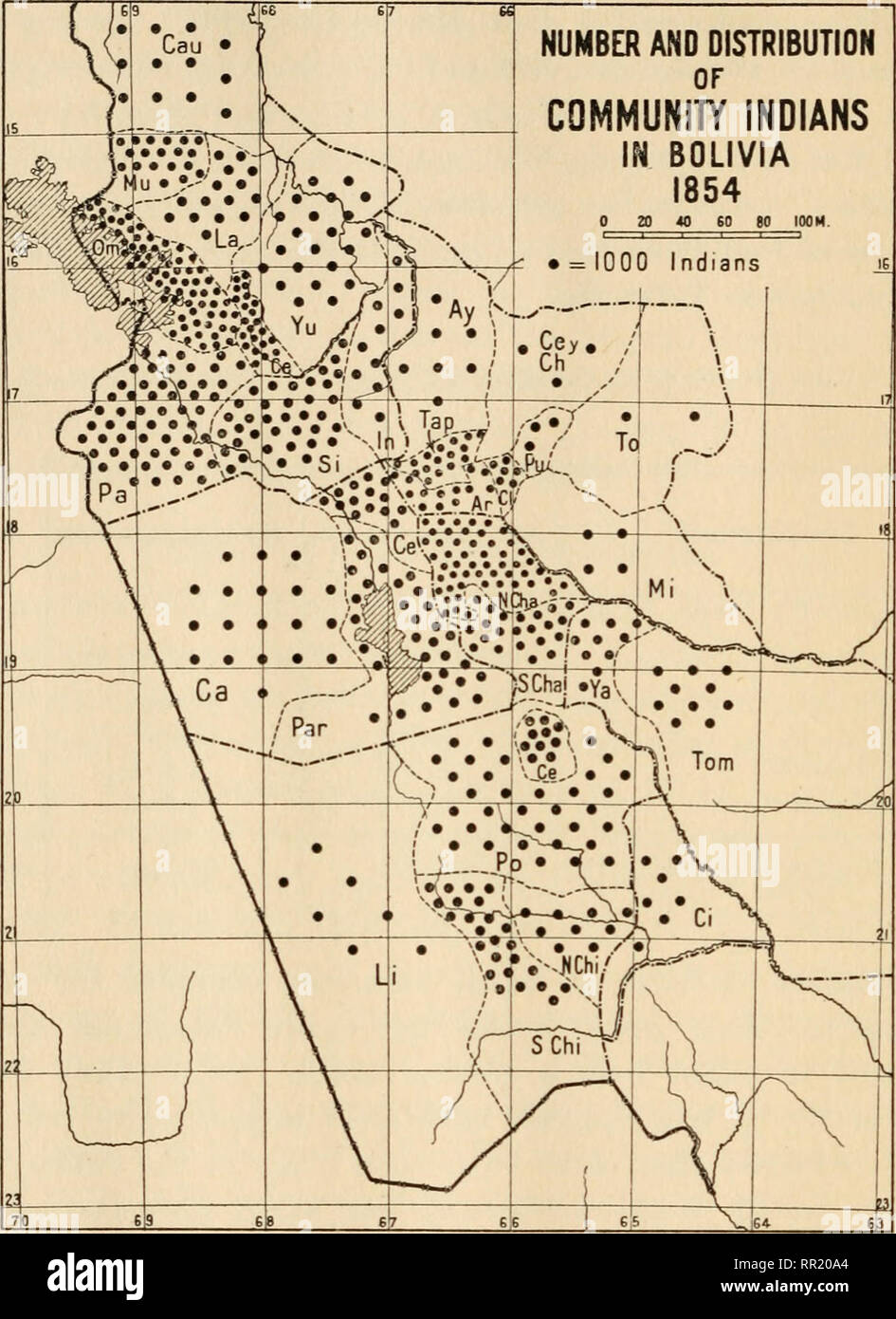 The agrarian Indian communities of highland Bolivia. Indians ... on map of saint lucia highlands, peru highlands, map of guiana highlands, map of latin america and its landforms, map of argentina with lakes labeled, map of red sea highlands, map of scotland highlands,