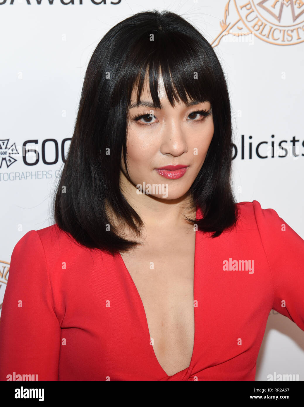 CONSTANCE WU attends the 56th Annual ICG Publicist Awards at The Beverly Hilton Hotel in Beverly Hills, California. 22nd Feb, 2019. Credit: Billy Bennight/ZUMA Wire/Alamy Live News Stock Photo