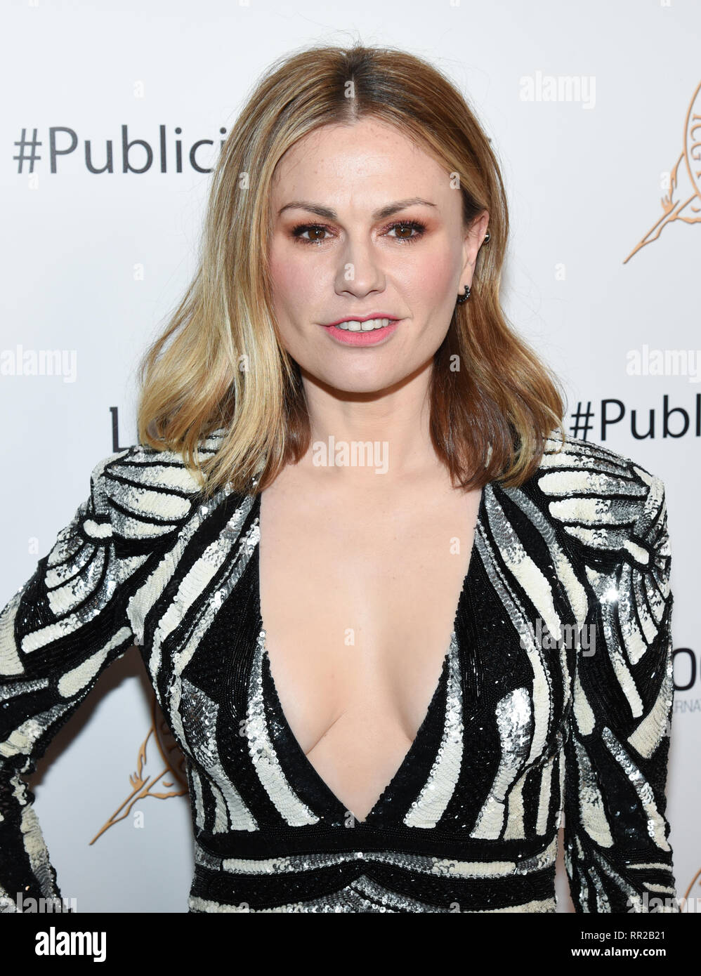 ANNA PAQUIN attends the 56th Annual ICG Publicist Awards at The Beverly Hilton Hotel in Beverly Hills, California. 22nd Feb, 2019. Credit: Billy Bennight/ZUMA Wire/Alamy Live News - Stock Image