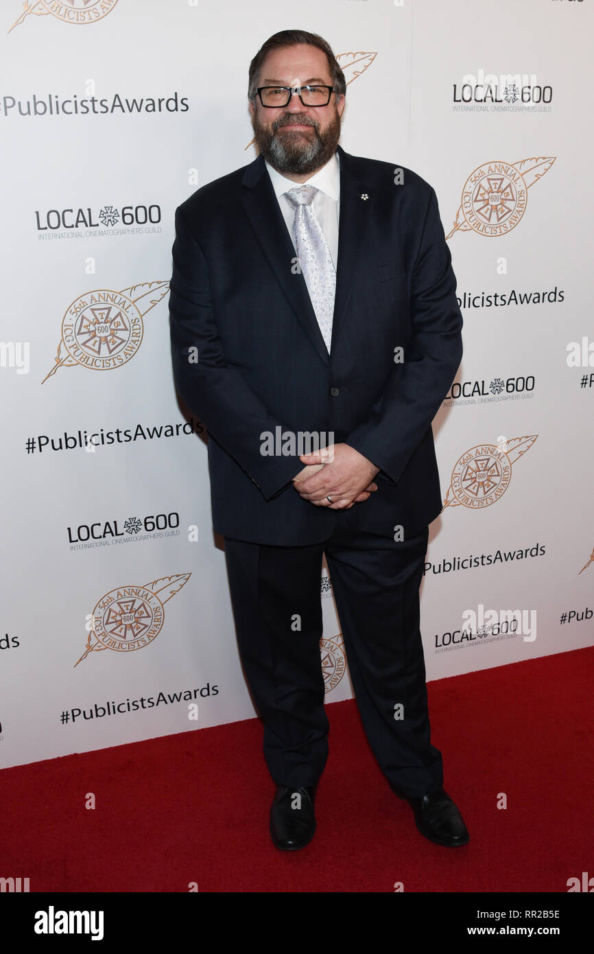 MATT LOEB attends the 56th Annual ICG Publicist Awards at The Beverly Hilton Hotel in Beverly Hills, California. 22nd Feb, 2019. Credit: Billy Bennight/ZUMA Wire/Alamy Live News - Stock Image