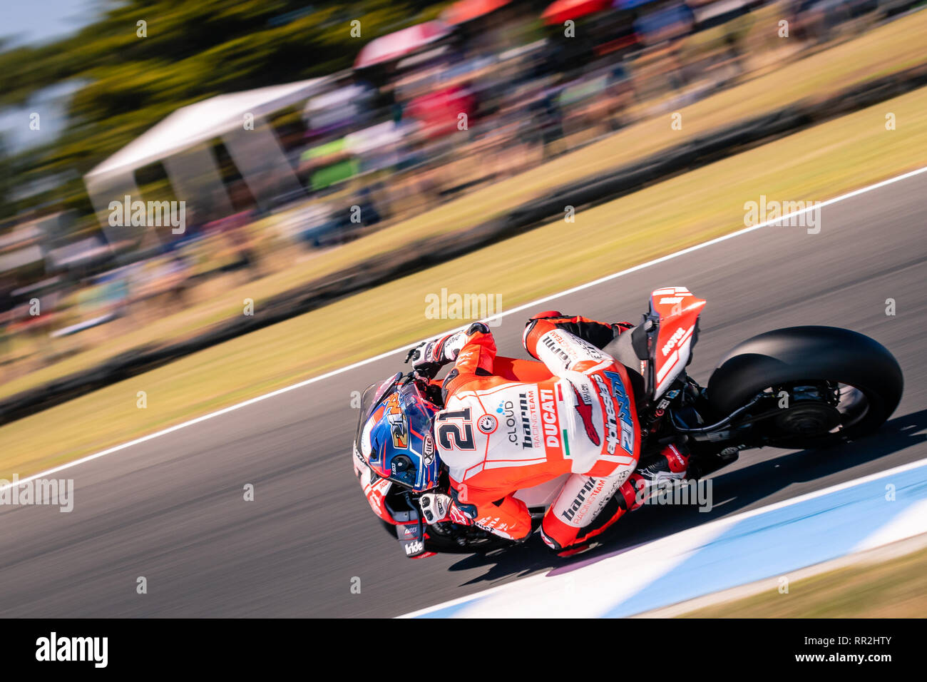 Melbourne, Australia. 24th Feb, 2019. MELBOURNE, AUSTRALIA - FEBRUARY 24: Michael Ruben Rinaldi 21 riding for GULF ALTHEA BMW Racing Team during the 2019 MOTUL FIM Superbike World Championship at Phillip Island, Australia on February 24 2019. Credit: Dave Hewison Sports/Alamy Live News Stock Photo