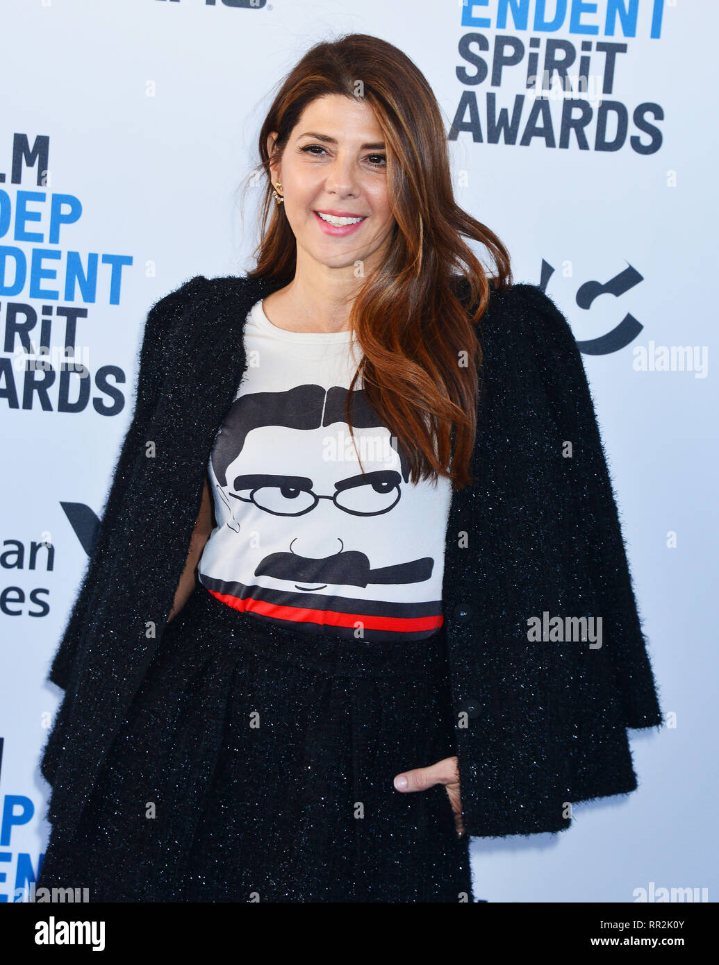 Santa Monica, California, USA. 23rd Feb, 2019. Marisa Tomei 116 attends the 2019 Film Independent Spirit Awards on February 23, 2019 in Santa Monica, California. Credit: Tsuni / USA/Alamy Live News - Stock Image