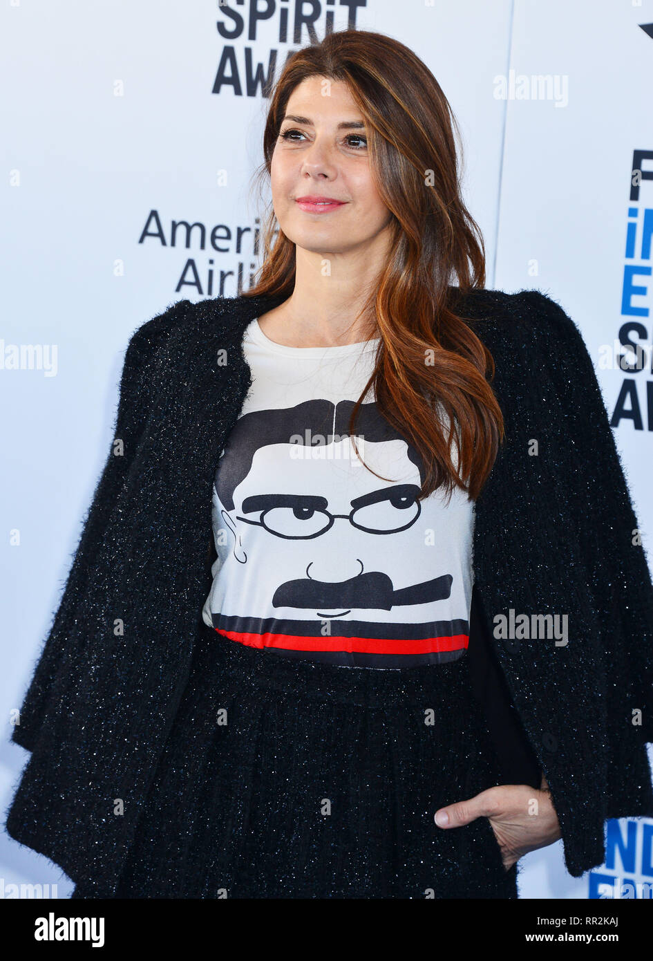 Santa Monica, California, USA. 23rd Feb, 2019. Marisa Tomei 115 attends the 2019 Film Independent Spirit Awards on February 23, 2019 in Santa Monica, California. Credit: Tsuni / USA/Alamy Live News - Stock Image