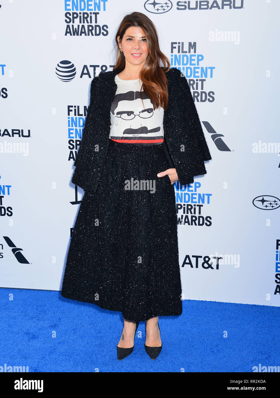 Santa Monica, California, USA. 23rd Feb, 2019. Marisa Tomei 009 attends the 2019 Film Independent Spirit Awards on February 23, 2019 in Santa Monica, California. Credit: Tsuni / USA/Alamy Live News - Stock Image