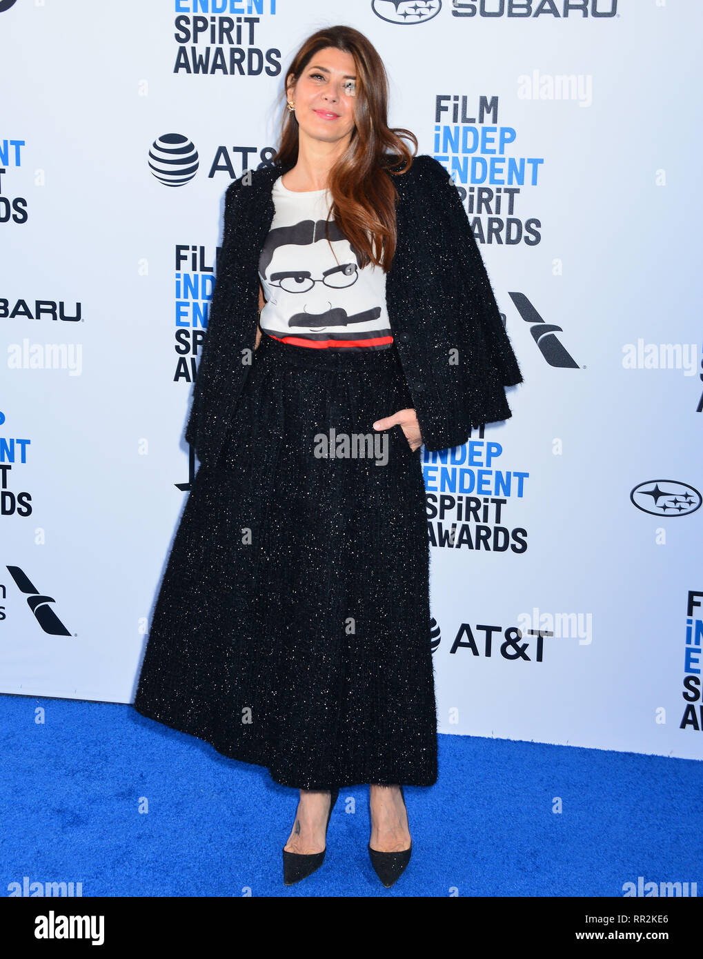 Santa Monica, California, USA. 23rd Feb, 2019. Marisa Tomei 010 attends the 2019 Film Independent Spirit Awards on February 23, 2019 in Santa Monica, California. Credit: Tsuni / USA/Alamy Live News - Stock Image
