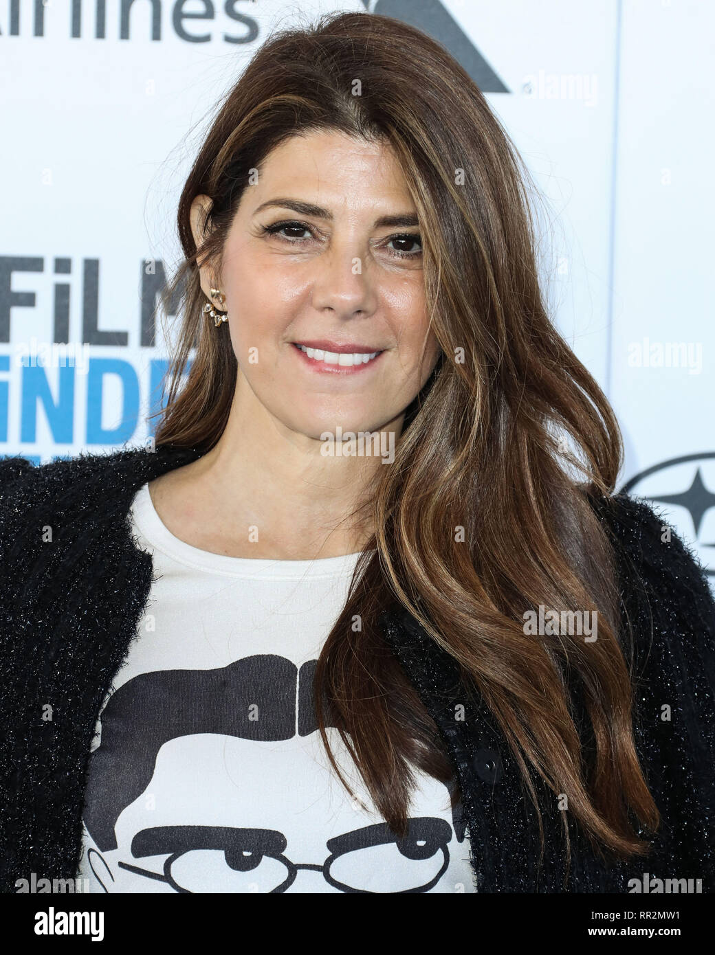 SANTA MONICA, LOS ANGELES, CA, USA - FEBRUARY 23: Actress Marisa Tomei arrives at the 2019 Film Independent Spirit Awards held at the Santa Monica Beach on February 23, 2019 in Santa Monica, Los Angeles, California, United States. (Photo by Xavier Collin/Image Press Agency) - Stock Image