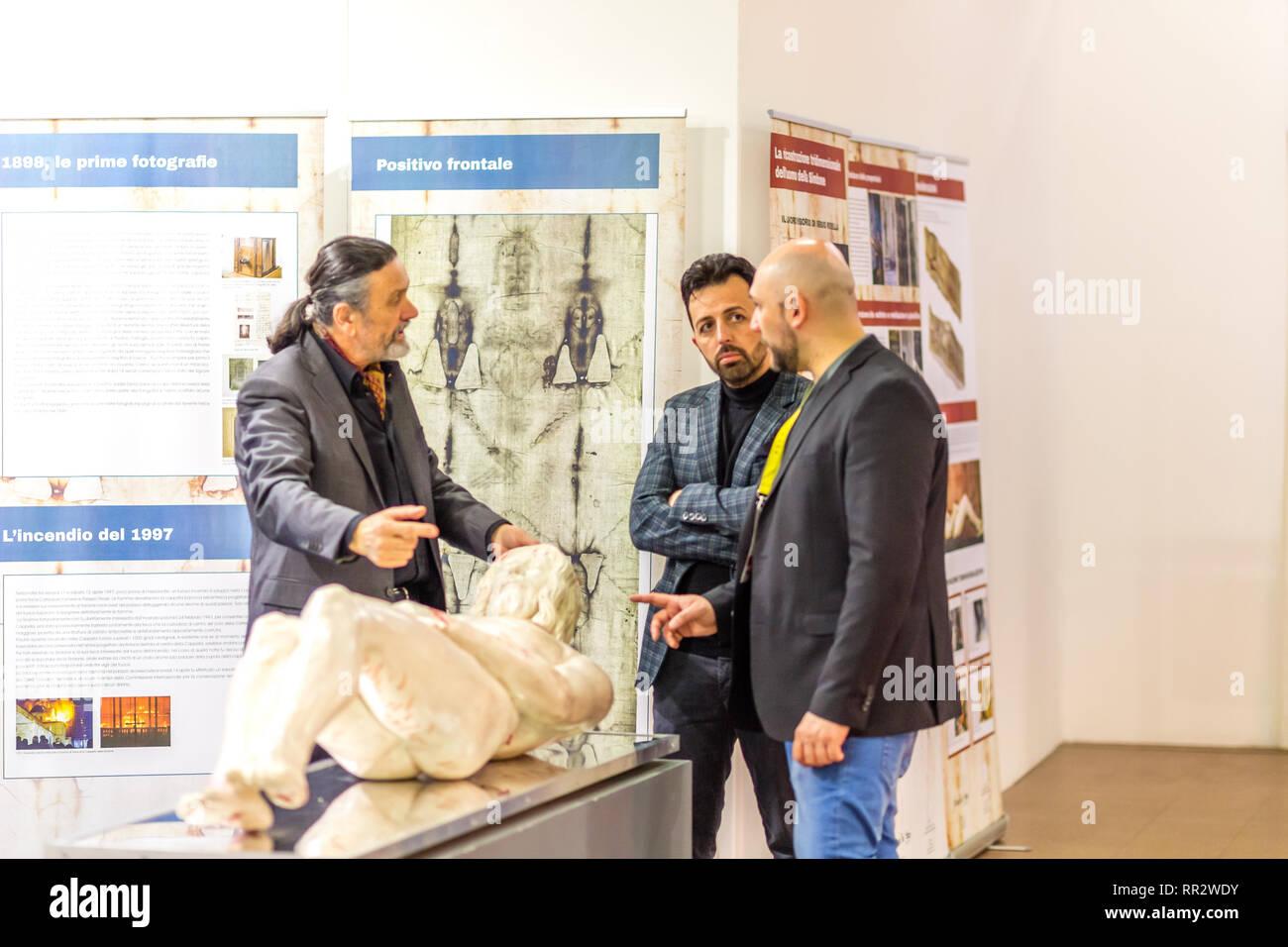 Shroud Of Turin On Display 2019