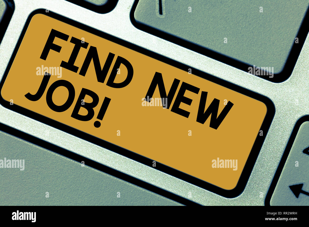 Writing Note Showing Find New Job Business Photo Showcasing Searching For Career Opportunities Solution To Unemployment Keyboard Key Intention