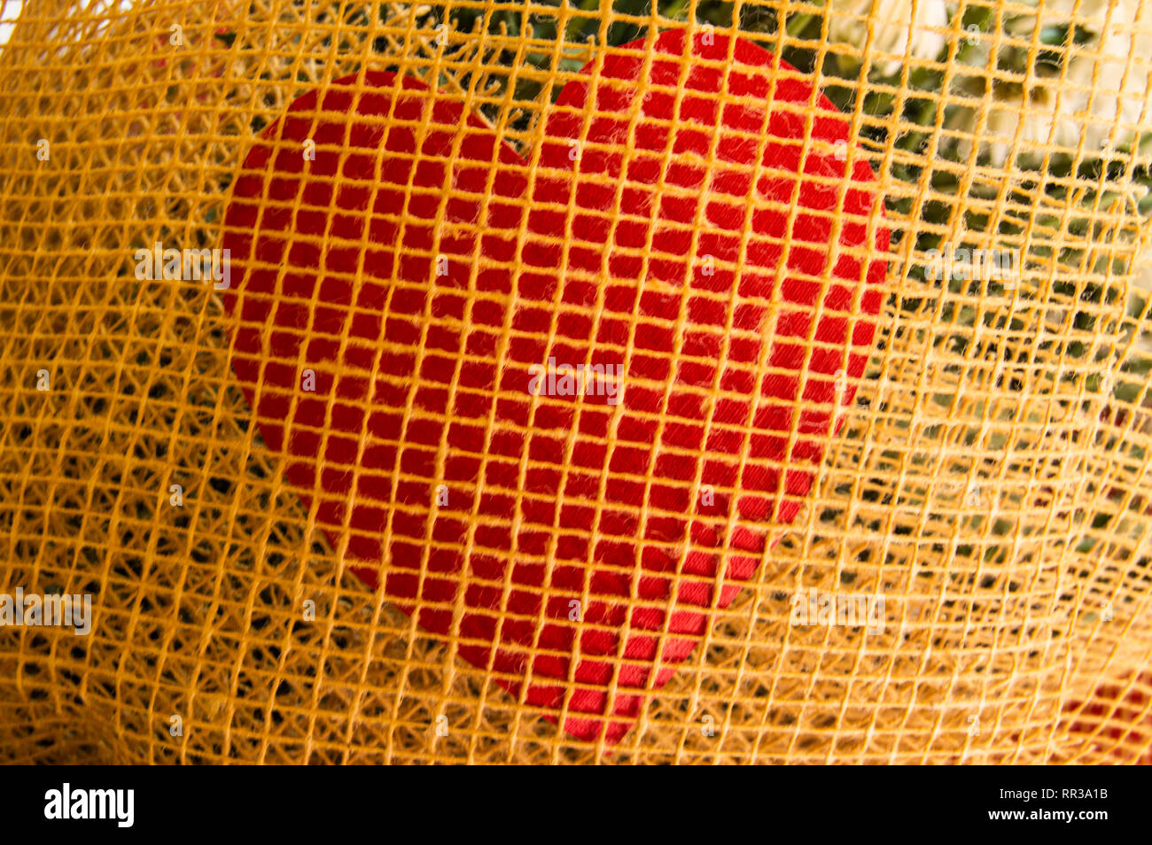 Card HEART FOR BRAIDED MESH, with copy space. - Stock Image