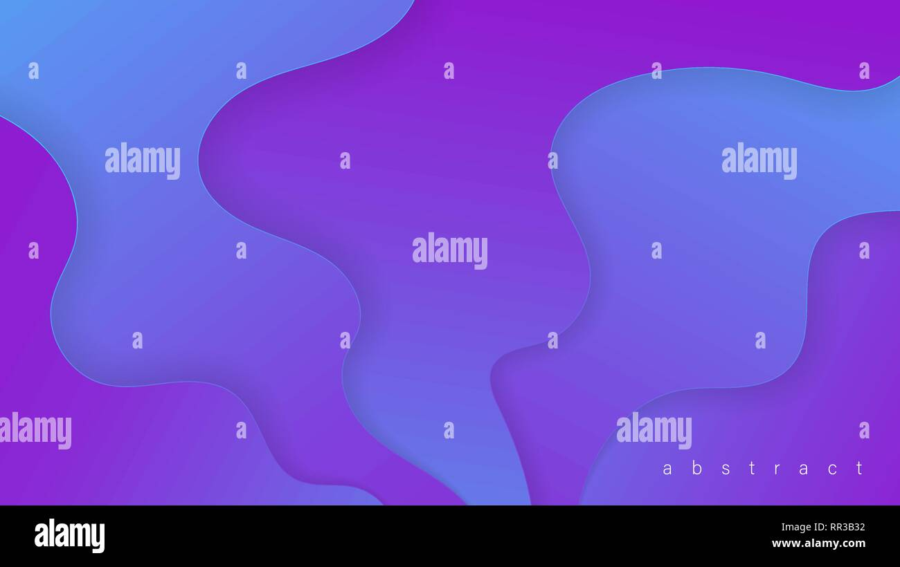 Liquid Abstract Shape Gradients Fluid Colorful 3d Background