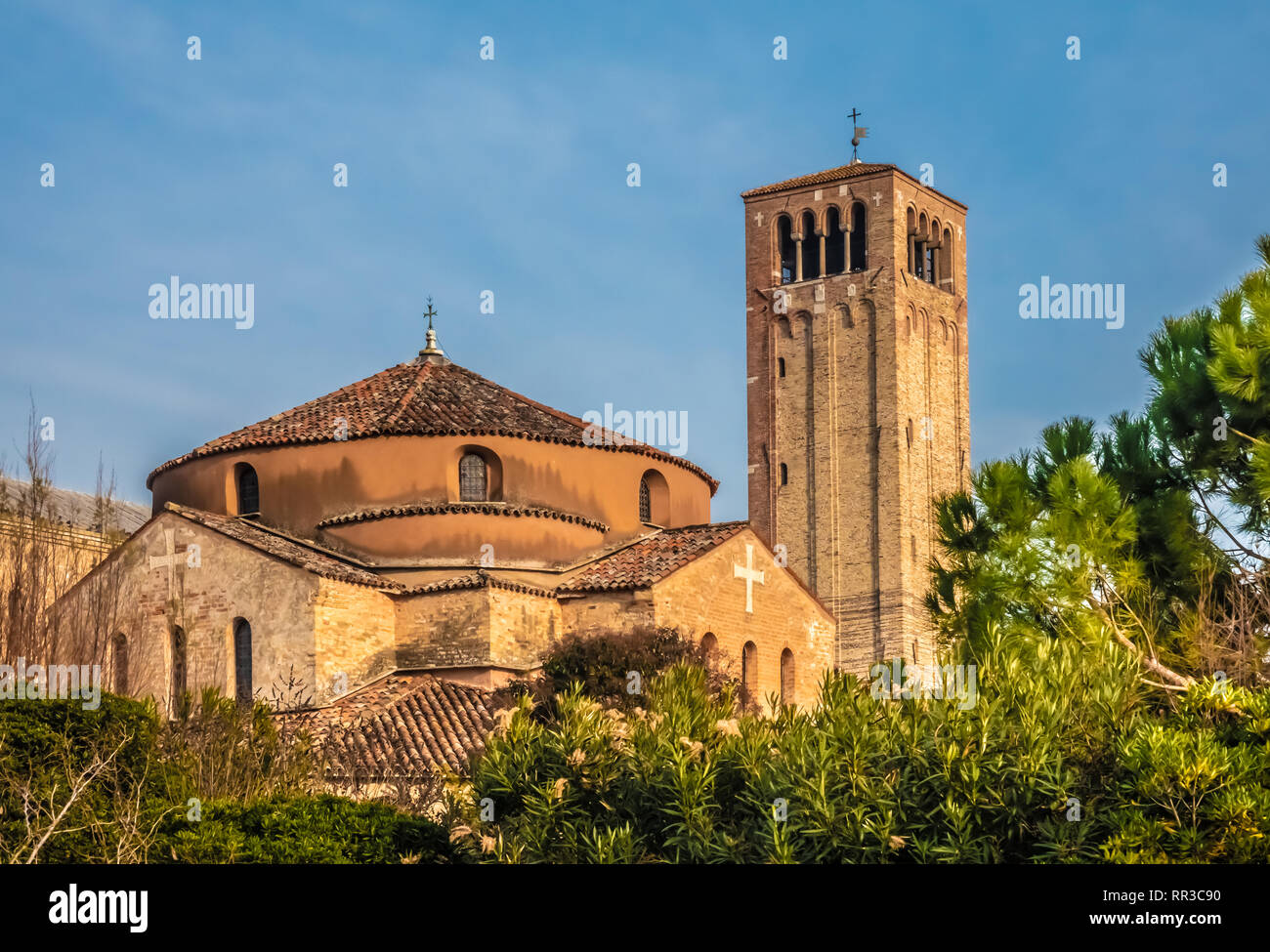 Torcello (Torcellum) a sparsely populated island at the northern end of the Venetian Lagoon near Burano, Venice, Veneto, north-eastern Italy. IIt was  - Stock Image