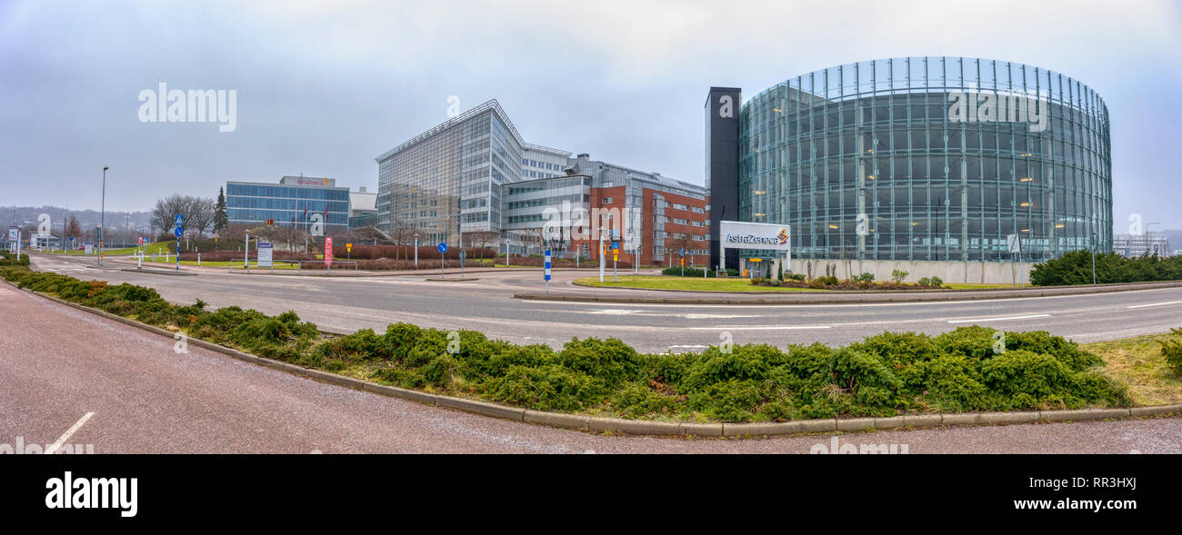 AstraZeneca science centre for research and development R&D in Mölndal just outside Gotheburg, Sweden - Stock Image