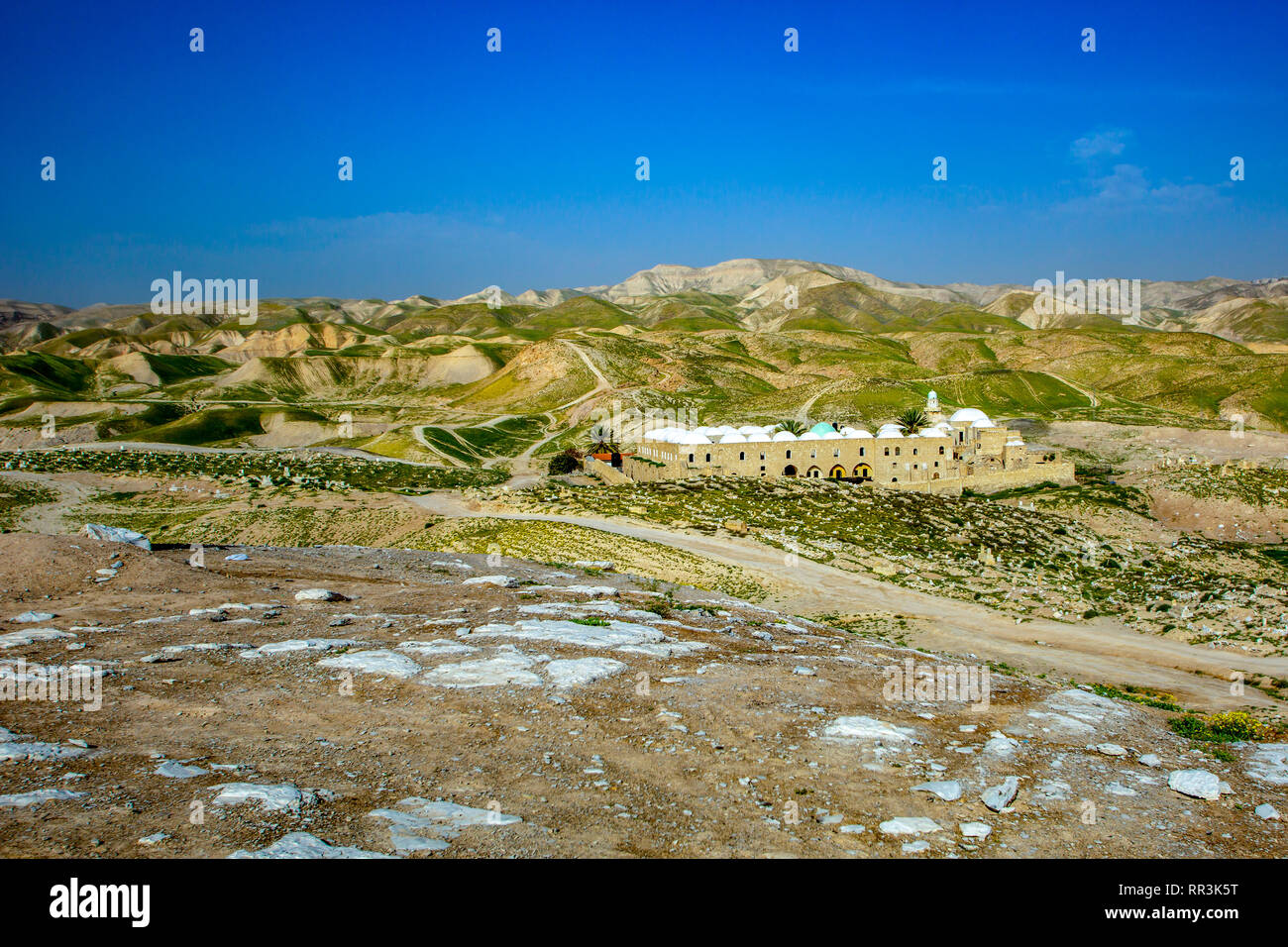 Nabi Musa (Nebi Musa) is the name of a site in the Judean desert, Palestine that popular Palestinian folklore associates with Moses. - Stock Image