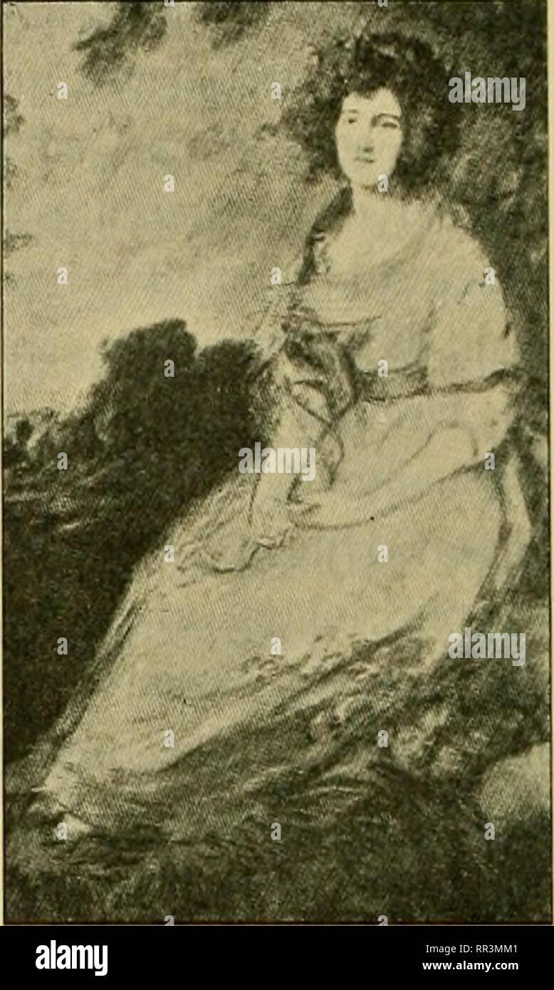 """. Acta Societatis Scientiarum Fennicae. Science. Abb. 276. Abb. 277. Beinen, so scheint jetzt, bei den niedlichen Schäferinnen Bouchers (z. B. """"Galerien Euro- pas"""" H. XV, Taf. 120) und den reizenden Bauerfrauen und Mädchen von ihm und Greuse (z. B. Hirth VI, 3100 u. 3120 —23; Artistes célèbres: Greuze, Abb. S. 15 u. 47), unsere Sitzweise geradezu das stille Glück des unschuldigen, länd- lichen Lebens zu symbolisieren. Und zugleich gewinnt sie wieder einmal Be- deutung in vornehmen Damenporträts. Beispiele aus der Rokokozeit: Mme. de Pompadour von Boucher (Victoria and Albert Museum, Londo - Stock Image"""