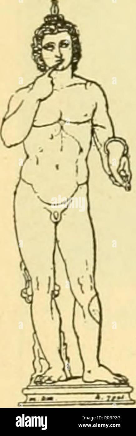 . Acta Societatis Scientiarum Fennicae. Science. ches auf (Perrot u. Chipiez: Hist. de l'art dans l'antiquité I, Abb. 658, 659, 706, 723 u. 748), aber nur an Kinderliguren als eine attributive Bezeichnung des Kindes- alters, gewiss mit Rücksicht auf die Gewohn-  ^ heit desselben, den Pinger in den Mund zu stecken (was hier jedoch nur mehr angedeutet wird). Sonst ist mein erstes Beispiel — und das erste wirkliche Beispiel der Gebärde als ein Ausdruck des Nachdenkens — ein alter- tümliches, griechisches Tonrelief in Berlin (Abb. 1: nach Baumeister: Denkmäler des klass. Al- terturas I, S. 492), w Stock Photo