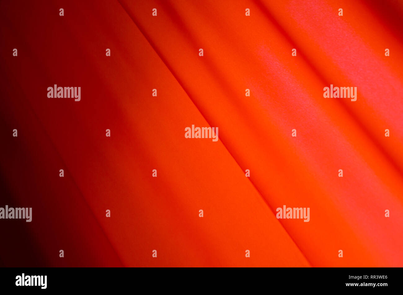 Red drape background. Flag. MayDay. Red Curtain - Stock Image
